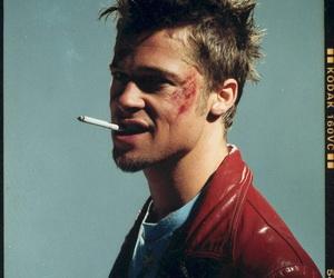 brad pitt, fight club, and cigarette image
