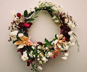 flowers, crown, and flower crown image