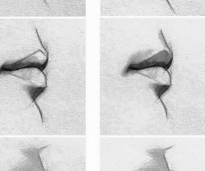 dibujo, labios, and perfil image