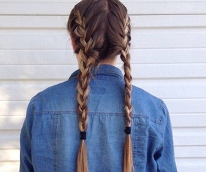 hair, braid, and carefree image