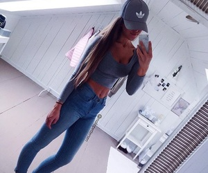 adidas, cap, and jeans image