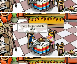 funny, savage, and club penguin image