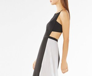 bcbg evening dress, 2016 bcbg dress, and bcbg side pleated dress image