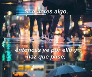 frases, lluvia, and dreams image