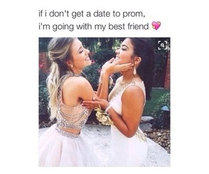 best friends, Prom, and dress image