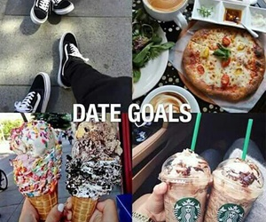date, goals, and couple image