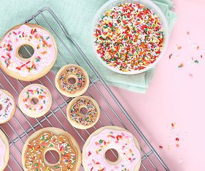 donuts, sweets, and pink image