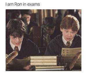 exam, funny, and harry potter image