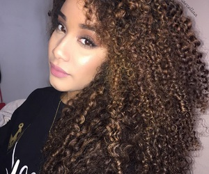 colored hair, curls, and curly image