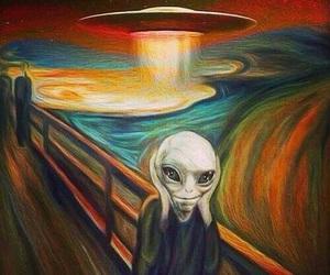 alien, art, and ufo image