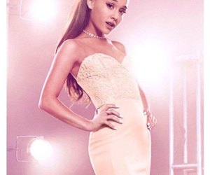 dress, hair, and ariana grande image
