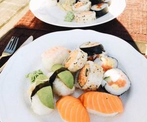 sushi, food, and orange image
