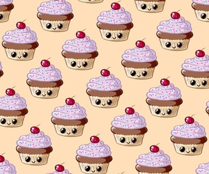 background, cupcakes, and iphone image