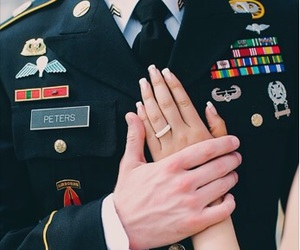 military, ring, and wedding image