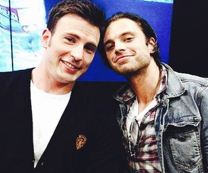 chris evans, sebastian stan, and captain america image
