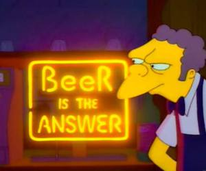 beer, moe, and simpsons image
