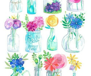 flowers, art, and colours image