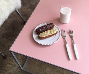 aesthetic, pink, and milk image