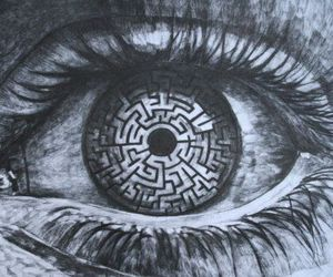 eye, eyes, and maze image