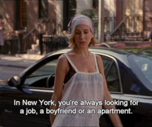new york, sex and the city, and quotes image