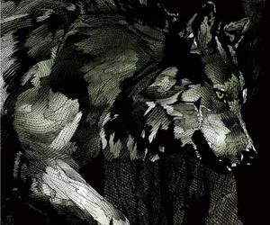 Animais, wolf, and arte image