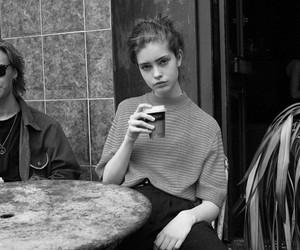 girl, coffee, and vintage image