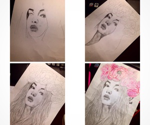 drawing, fashion, and flowers image