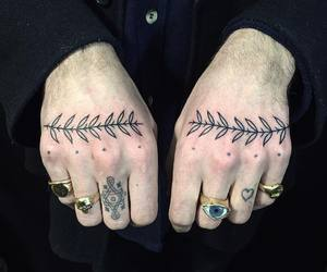 hands, ink, and rings image
