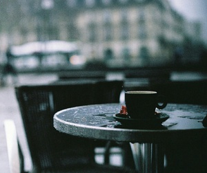 coffee, rain, and alone image