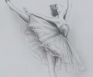 drawing, ballet, and dance image