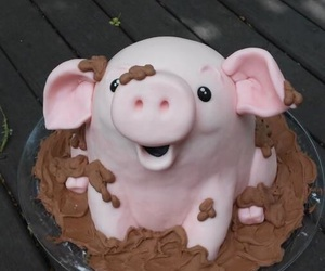 cake and pig image