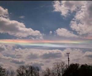 clouds, rainbow, and lovely image