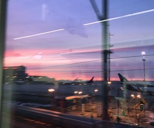 pink sky, sky, and sunset image