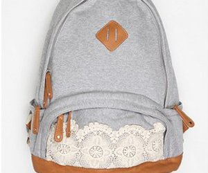 backpack, bag, and lace image