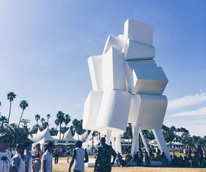 architecture, art, and coachella image