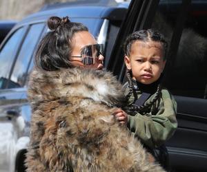 kim kardashian, north west, and luxury image