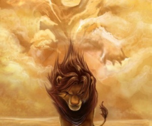 disney, simba, and lion image