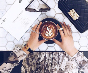 coffee, fashion, and bag image