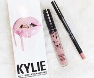 kylie, lipstick, and makeup image