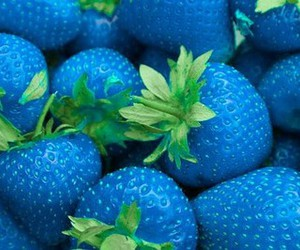 blue, strawberry, and fruit image