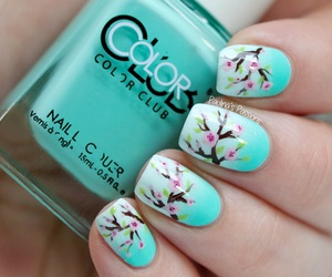 nails, blue, and spring image