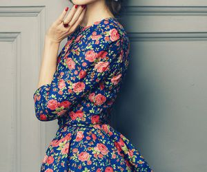 dress, floral, and style image
