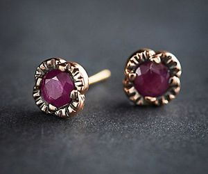 earrings, gold, and vintage image