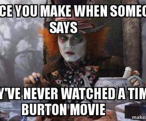 alice in wonderland, mad hatter, and movies image