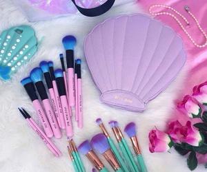 makeup, mermaid, and pink image