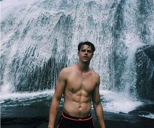 boy, muscle, and nature image