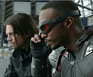 falcon, civil war, and winter soldier image