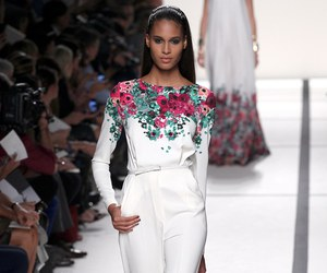 elie saab, floral, and haute couture image