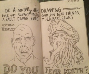 Davy Jones, drawing, and harry potter image