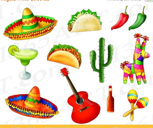 cinco de mayo, mexican party, and clipart image